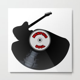 Memphis Soul Music Silhouette Record Metal Print