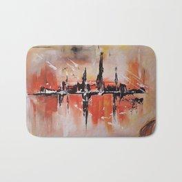 City on fire Bath Mat