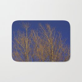 Glimmering Golden Willow Bath Mat