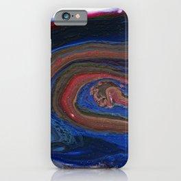 Fluid Acrylic VIII - Negative space fluid pour painting iPhone Case