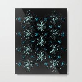 3D Abstract Fractal Element Pattern Metal Print