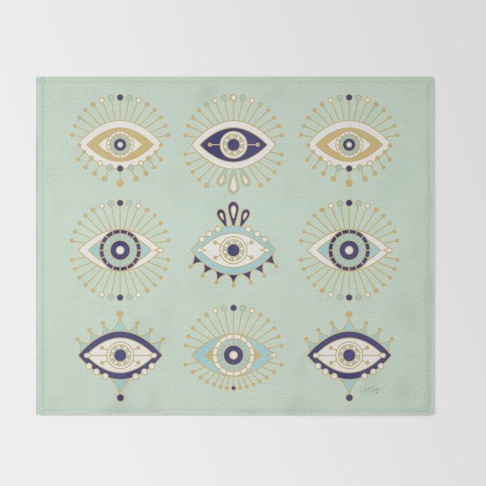 Evil Eye Collection Throw Blanket