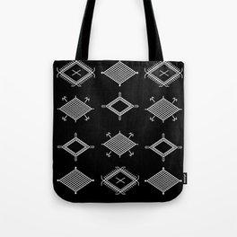 UrbanNesian Black and White Malu Tote Bag