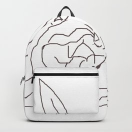 Abstract carnation flower Backpack