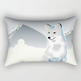 Artic Fox Rectangular Pillow