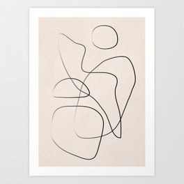 Abstract Line I Art Print