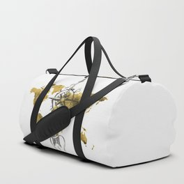 Gold World Map 2 Duffle Bag