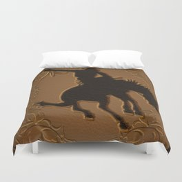 Leather Rodeo Cowboy Duvet Cover