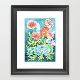 Botanical Aquarelle Framed Art Print