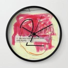 dignity post Wall Clock