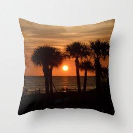 Sunset on Siesta Throw Pillow