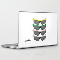 tour de france Laptop & iPad Skins featuring Tour de France Glasses by Pedlin