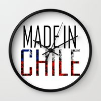 chile Wall Clocks featuring Made In Chile by VirgoSpice