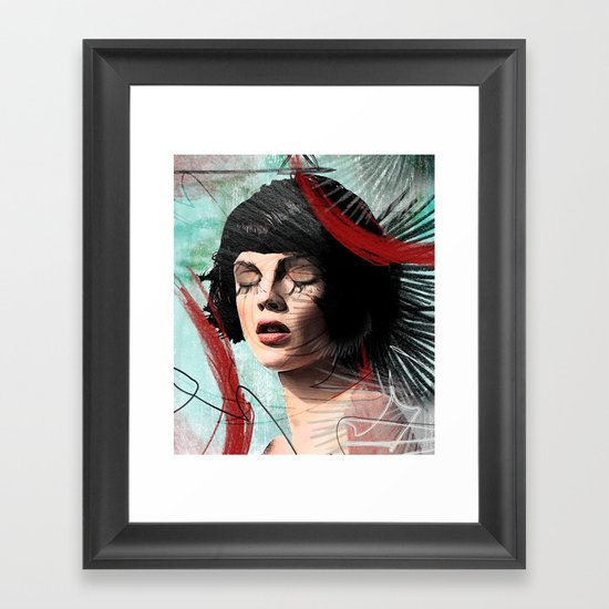 memories of sorrow Framed Art Print