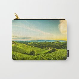 Vineyards landscape panorama. South Styria, Austria Carry-All Pouch