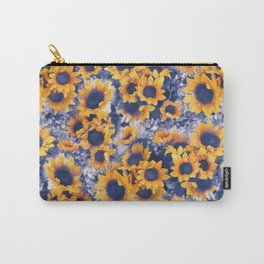 Sunflowers Blue Carry-All Pouch