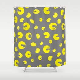 Yellow dotted pattern Shower Curtain