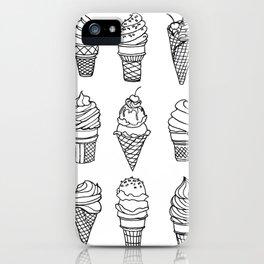 Ice Cream Cones, Drawing iPhone Case