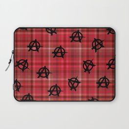 red plaid anarchy Laptop Sleeve