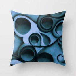 The Blue Beech Bauls Throw Pillow