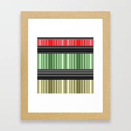 Red-yellow - green stripes. Framed Art Print