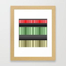 Red-yellow - green stripes. Framed Art Print