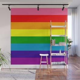 Rainbow Flag (Original Gay Pride Flag Colors) Wall Mural