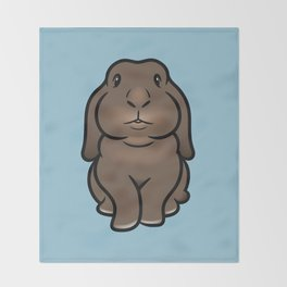 Coco the Minilop Bunny Throw Blanket