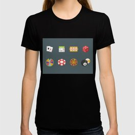 Roulette, Slots, Chips, Dice & Cards - Nevada Day T-shirt