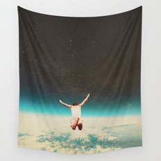Falling with a hidden smile Wall Tapestry