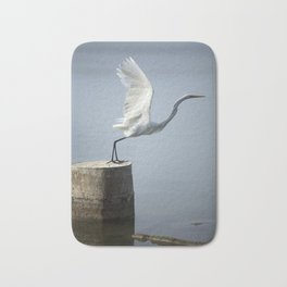 White Heron´s Fly Bath Mat