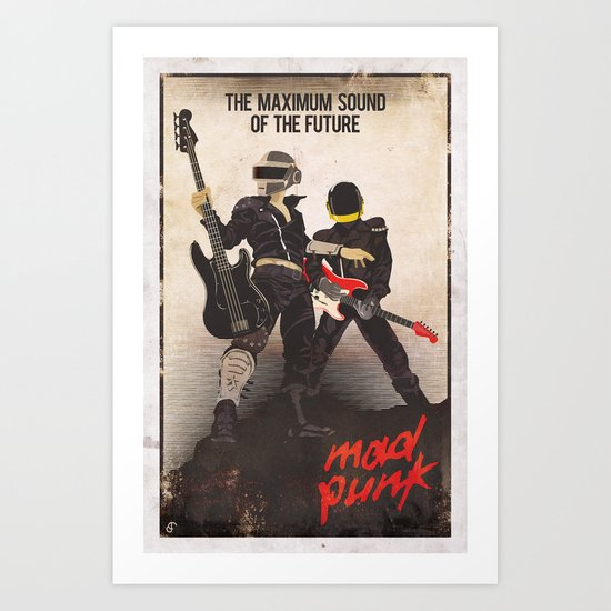 Mad Punk / A tribute to Daft Punk Art Print
