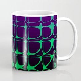 Gradient Bubble Pattern (Purple/Green) Coffee Mug