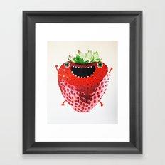 Nice Strawberry Framed Art Print