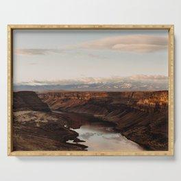 Snake River, Idaho - Scenic Desert Canyon Serving Tray
