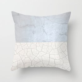 Broken stone pattern Throw Pillow