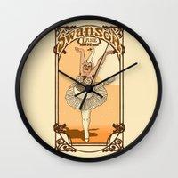 swanson Wall Clocks featuring Swanson Lake by Rodrigo Ferreira