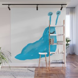Blue Slug Wall Mural