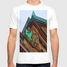 What's Your Angle? Mens Fitted Tee MEDIUM White
