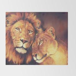 Lions Soulmates Throw Blanket