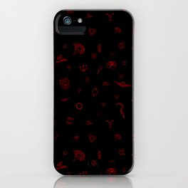 Red Rising Pattern iPhone Case