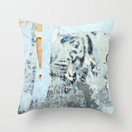 Wild Siberian Tiger Collage Throw Pillow