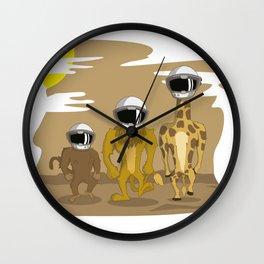 LION, MONKEY, GIRAFA WALKING TO THE MOON T-SHIRT Wall Clock