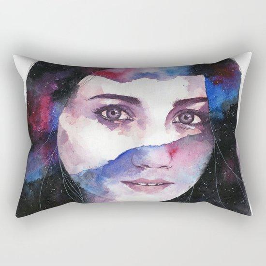 Tonight I gaze at the stars Rectangular Pillow