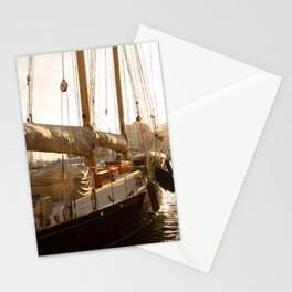 yacht in the port of Monaco Stationery Cards