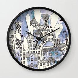 SLEEPING CITY Wall Clock