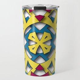 abstract aztec sun Travel Mug