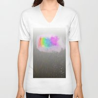 cloud V-neck T-shirts featuring cloud by WilliamFontana