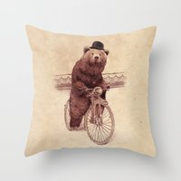 jazzberry Throw Pillows featuring Barnabus by Eric Fan