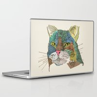 whisky Laptop & iPad Skins featuring Whisky Cat by Faye Finney
